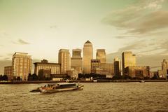 London Canary Wharf Stock Photos