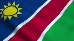 Realistic Namibia flag Stock Footage