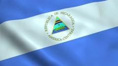 Realistic Nicaragua flag Stock Footage