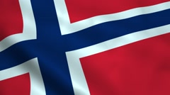 Realistic Norwegian flag Stock Footage