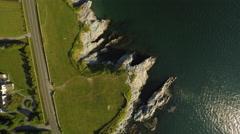 Newport RI Aerial, Brenton Point Stock Footage