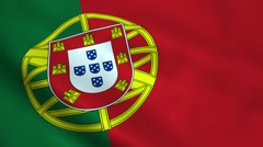 Realistic Portugal flag Stock Footage