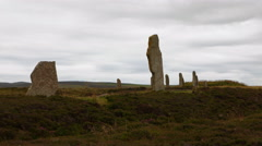 4K UltraHD Ring of Brodgar, Orkney, Scotland Stock Footage