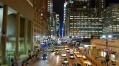 New york city at night. midtown manhattan street scene Stock Footage