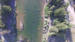 Blackfoot River Vertical Flyover Stock Footage