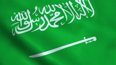 Realistic Saudi Arabia flag Stock Footage