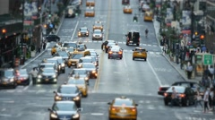 Unrecognizable people crossing street in the city at rush hour traffic Stock Footage