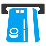 Bank ATM Flat Vector Icon Stock Illustration