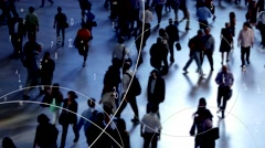 Population growth concept background. big data concept.  Stock Footage