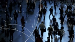 Collecting customer data information for statistics  Stock Footage