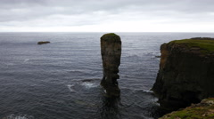 4K UltraHD The Castle of Yesnaby in Orkney, Scotland Stock Footage