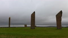 4K UltraHD Timelapse of the Standing Stones of Stenness, Orkney Stock Footage