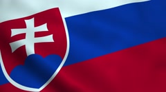 Realistic Slovakia flag Stock Footage