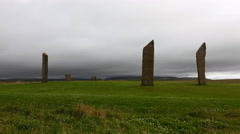 4K UltraHD Timelapse of the Standing Stones of Stenness in Orkney Stock Footage