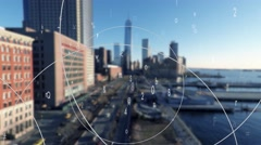 Animation showing data connection network Stock Footage