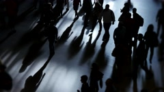 Abstract background of crowd of people walking in the city Stock Footage