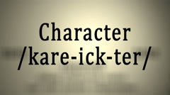 Definition: Character Stock Footage