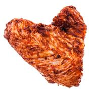 Hearth shaped Chicken wing Stock Photos
