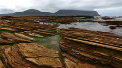 4K UltraHD Timelapse view of Warbeth Beach, Orkney Stock Footage