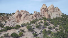 Aerial of beautiful rock formation and landscape Stock Footage