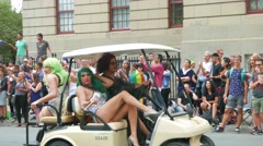 4K Drag Queen LGBT During Annual Gay Pride Parade Stock Footage