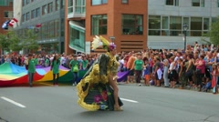 4K Drag Queen During Gay Pride Parade Celebrations Stock Footage