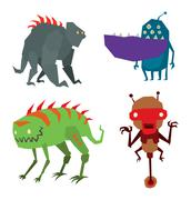 Alien monster vector illustration Stock Illustration