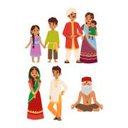 Vector illustration indian people Stock Illustration