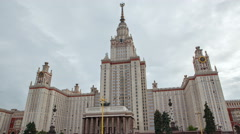 Main University of Moscow. Stock Footage