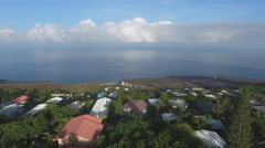 Houses on Hawaii coast big island aerial 4k Stock Footage