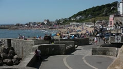 Coastal Promenade at the Jurassic Beach Stock Footage