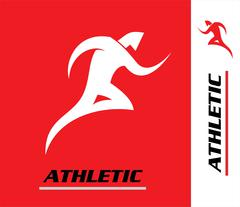 Red Runner. athletic. athletic man. Stock Illustration