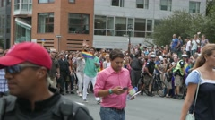 4K Justin Trudeau Marching During Gay Pride LGBT Parade In Montreal 2016 Stock Footage