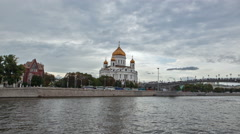 The Cathedral of Christ the Savior in Moscow. Stock Footage