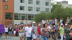 4K Older People Celebrating Gay Pride Day Stock Footage