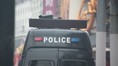 Police van China Stock Footage