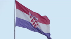 The flag of Croatia EU Stock Footage