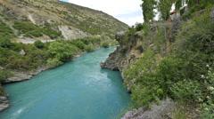 New Zealand Kawarau River flowing Stock Footage