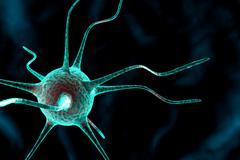 3d nerve cell Stock Illustration