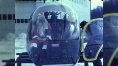 Santa Claus Delivers Presents in Helicopter 1960s Vintage Film Home Movie 9899 Stock Footage