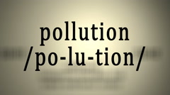 Definition: Pollution Stock Footage