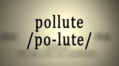 Definition: Pollute Stock Footage
