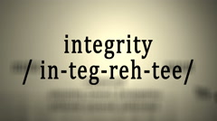 Definition: Integrity Stock Footage