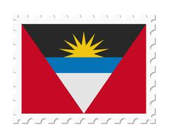 Stamp flag antigua and barbuda Stock Illustration