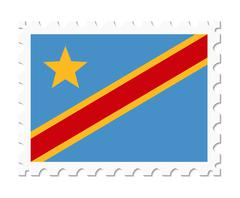 Stamp flag congo Stock Illustration