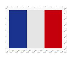 Stamp flag france Stock Illustration