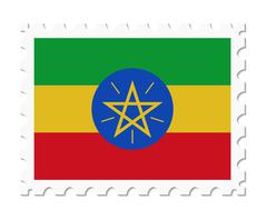 Stamp flag ethiopia Stock Illustration