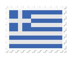 Stamp flag greece Piirros