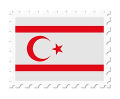 Stamp flag northern cyprus Stock Illustration