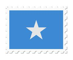 Stamp flag somalia Stock Illustration